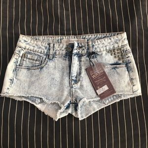 🆕 ZARA Acid Wash Denim Shorts